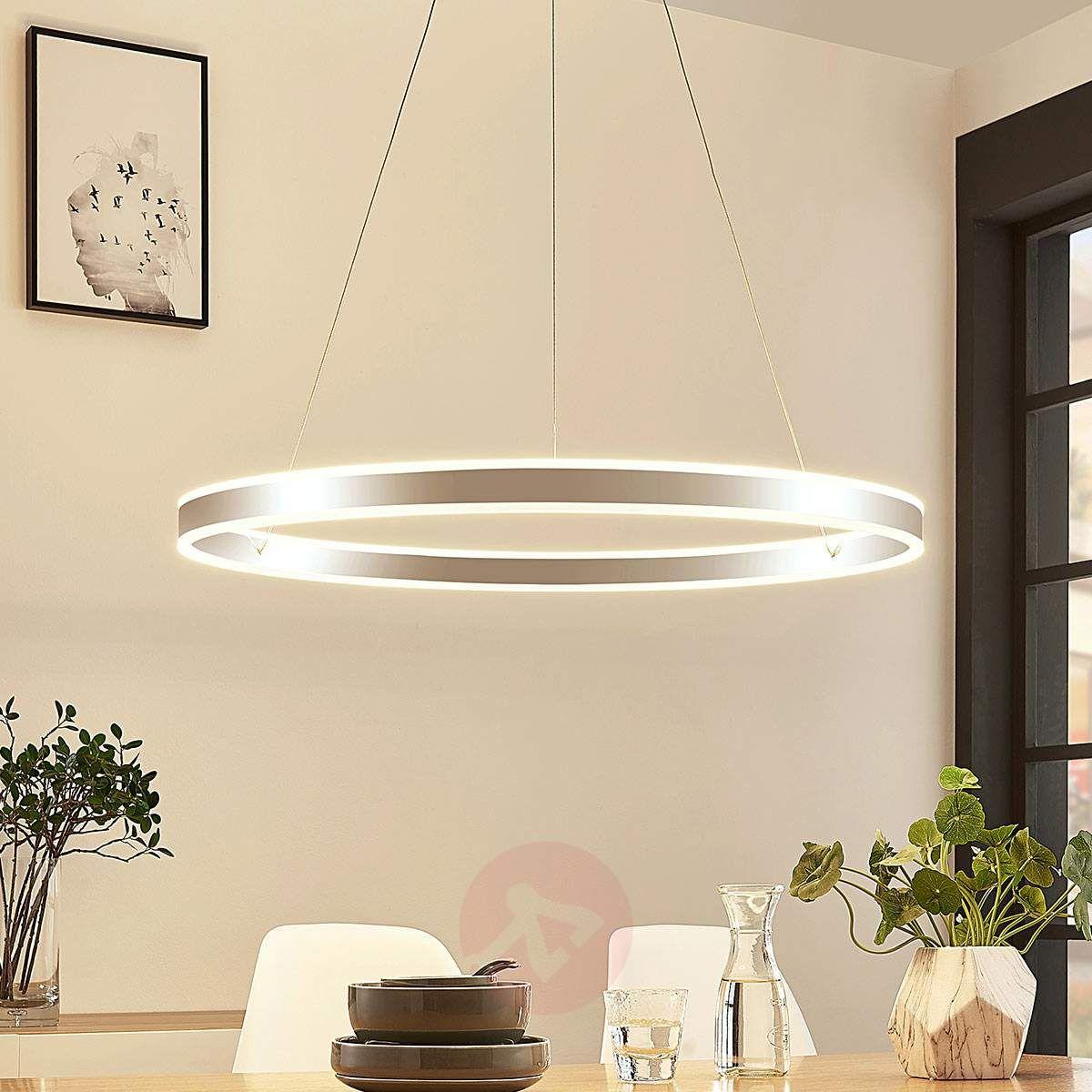 Lampa wisząca LED Lyani chrom, ściemniana, 80 cm   Lampa
