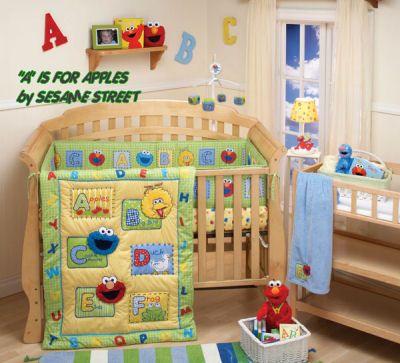 Sesame Street Baby Nursery Crib Bedding Abc Alphabet