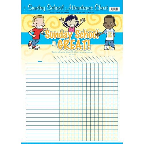 Free Sunday School Attendance Forms Chart Is Great