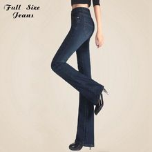 05eafaadd18 Spring Slim Fit Plus Size Flare Jeans High Waist Stretch Skinny Jean  Vintage Bell-Bottom Pants Denim Trousers Xxl 4Xl 5Xl Xs 6Xl(China  (Mainland))