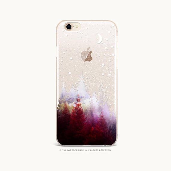 Iphone 11 Case Winter Forest Iphone 11 Pro Case Clear Rubber Etsy Iphone Iphone 8 Cases Iphone Cases