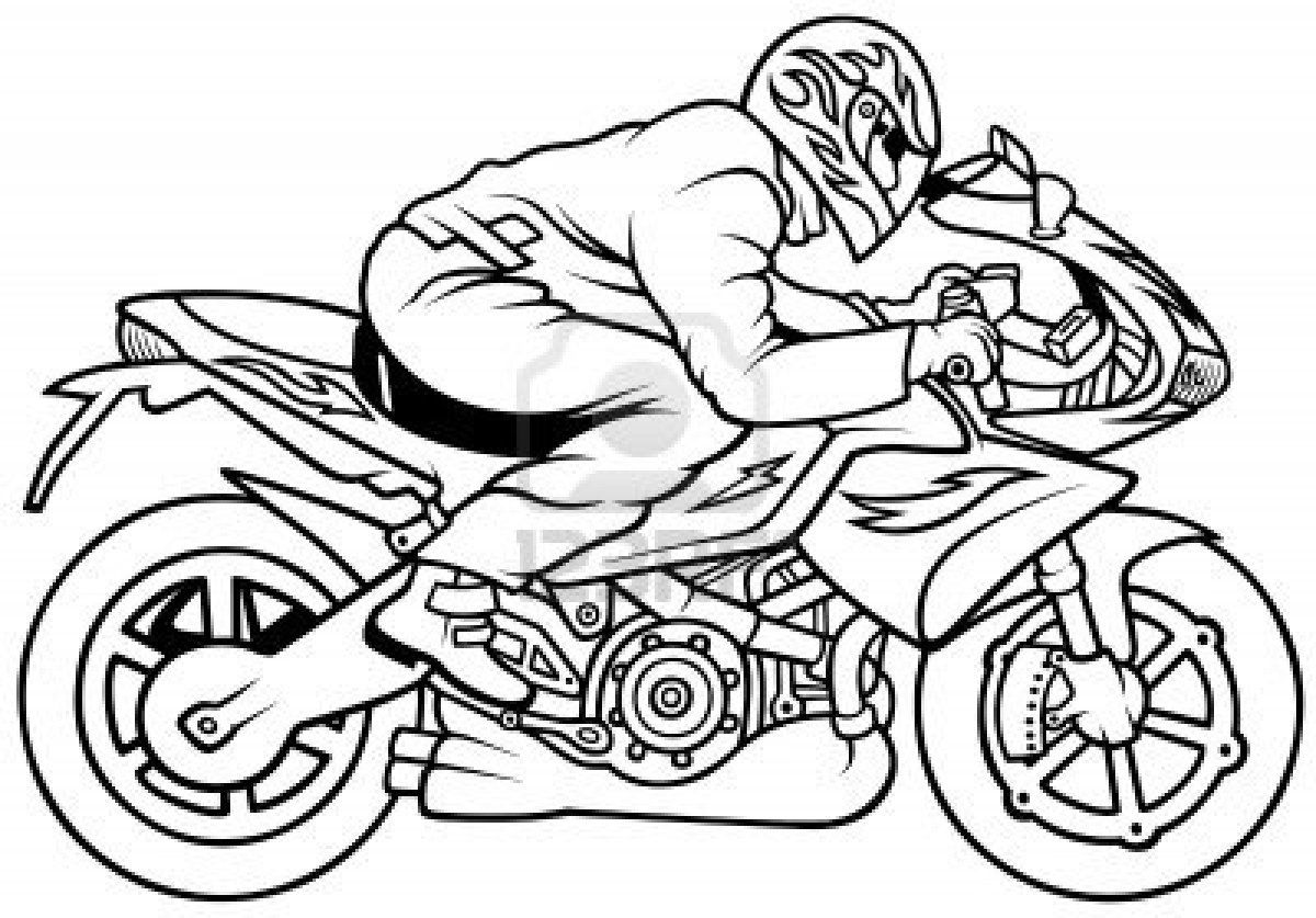 Coloriage De Moto