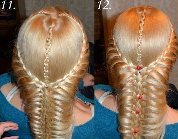 Here is a nice tutorial on how to make a beautiful braided hairstyle. This romantic hairstyle starts with two braids on the sides and then connects with the center one to form a thicker braid. If you have medium or long hair and like braided hairstyle, definitely try this one! …