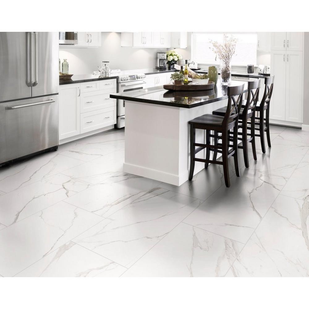Brindisi Bianco Matte Porcelain Tile   White tile kitchen floor ...