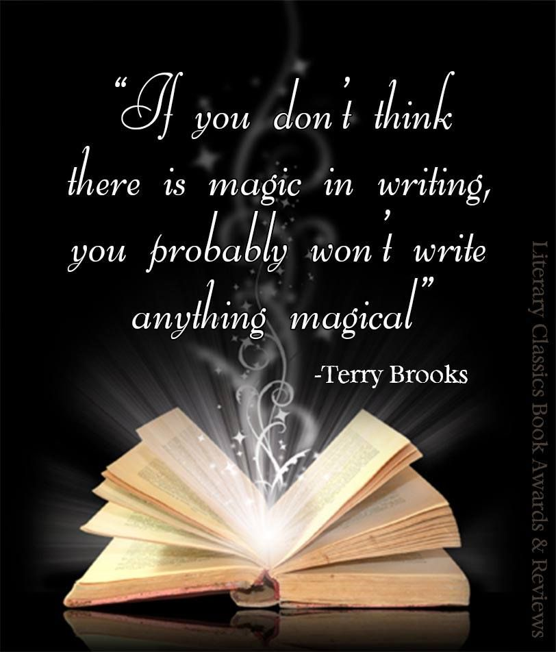If you donu0027t think there is magic in writing, you probably wonu0027t - book writing