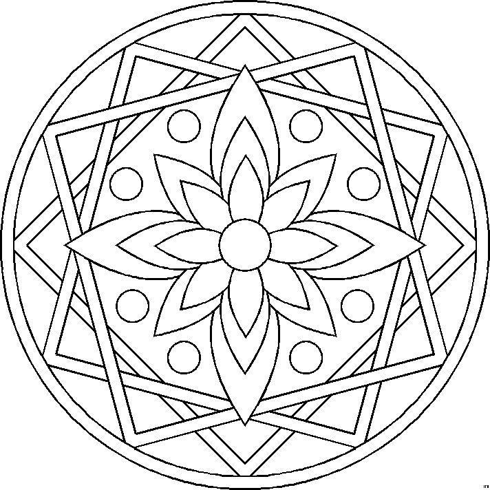 Mandalas Para Pintar Imprimir Y Colorear A Traves De Las Diferentes Combinaciones De Colores Los Man Mandalas Para Colorear Mandalas Faciles Mandalas Design
