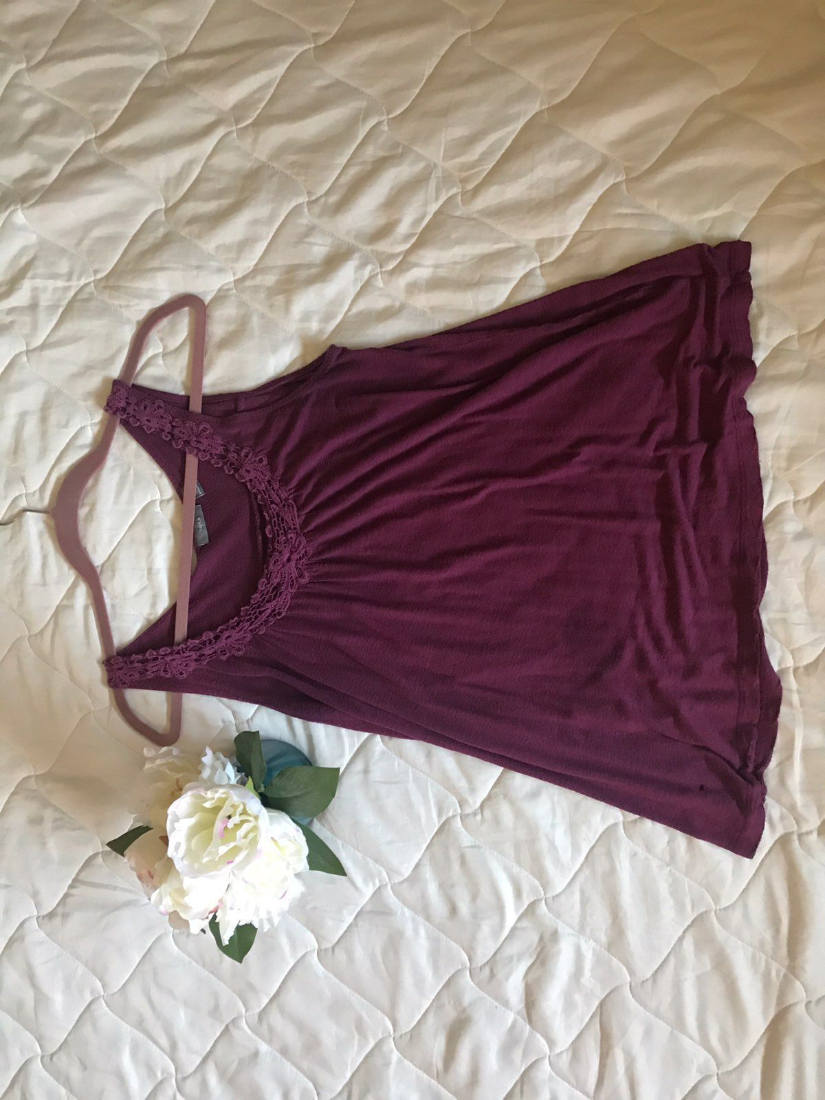 Apt. 9 Crotchet Neck Tank Mercari Rose clothing