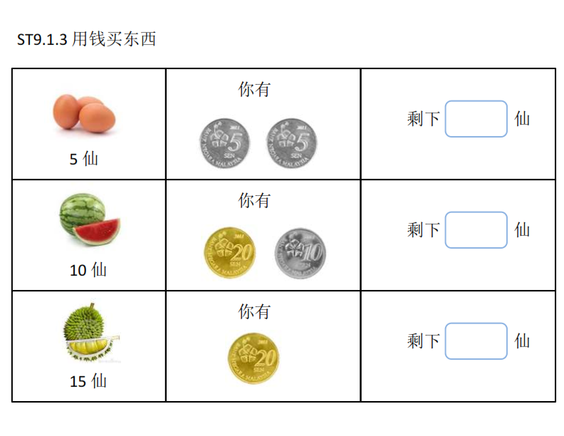 Math Malaysia S Coin V Count The Balance Money Worksheets Math Worksheets