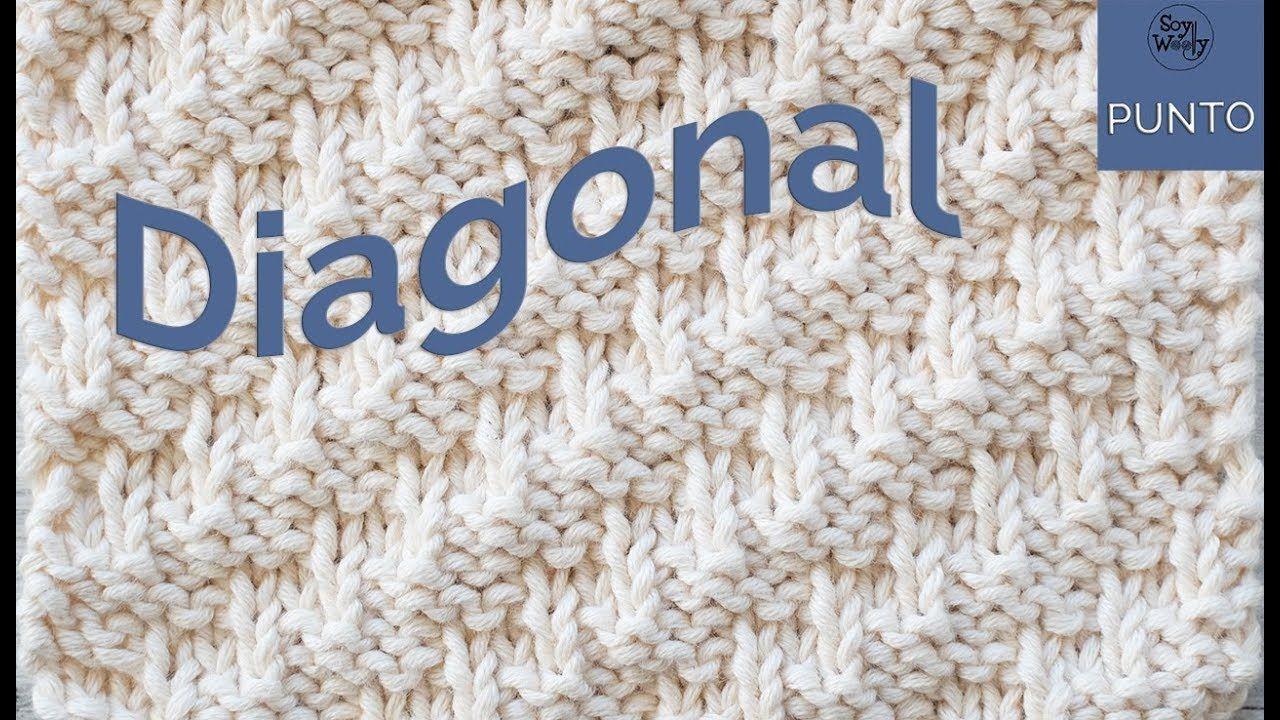Punto Diagonal: para tejer bufandas-cuellos en dos agujas - YouTube ...