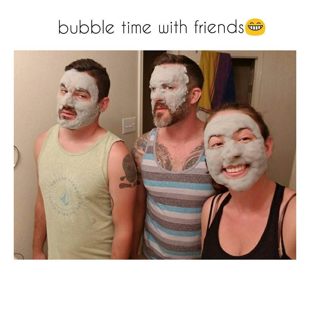 Fun deep cleaning bubble mask with lovely friends Shop now on bio link