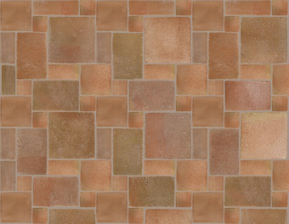 Poblet Reclaimed Style Terracotta 5 Tile Pattern Option A Large 4x4 4x8