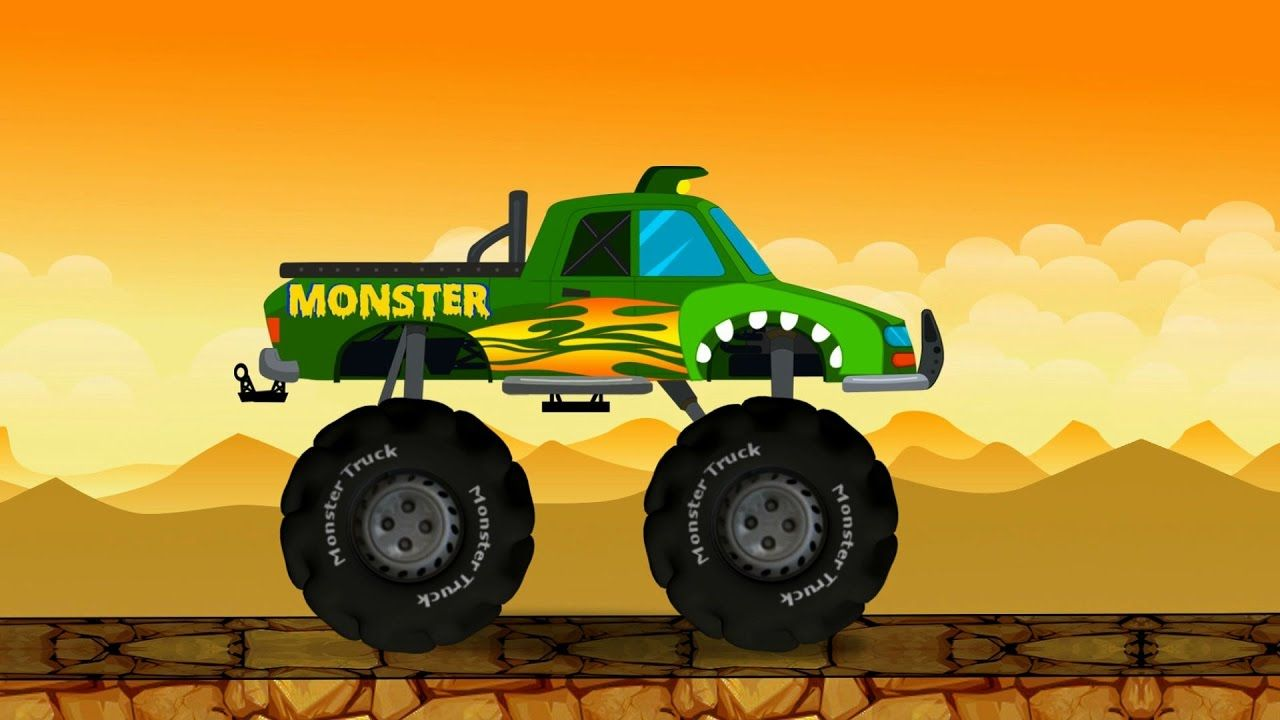 Watch As This Big Truck With Huge Wheels Crushes All The Alphabets Numbers Small Cars And Buildings And Tr Monster Trucks Kids Learning Videos Toddler Learning