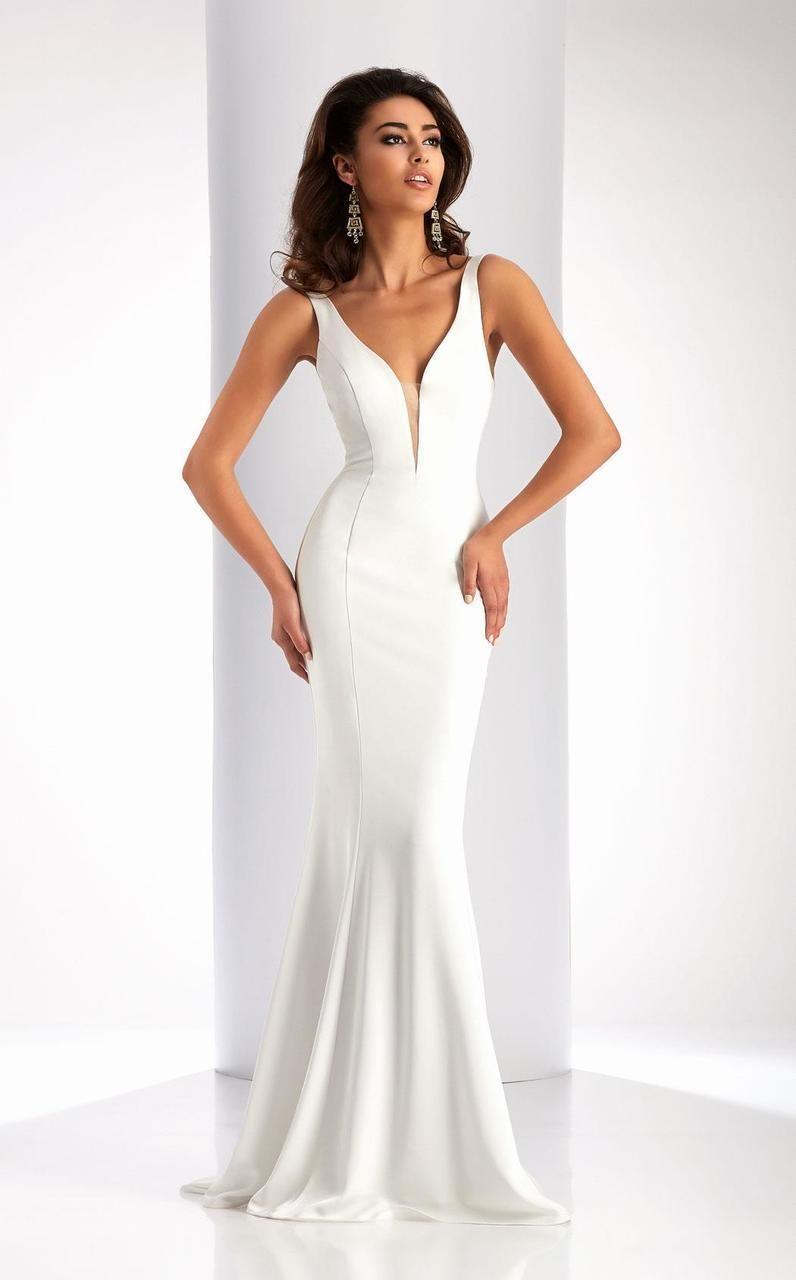 Clarisse 3153 stretch satin sheath dress in 2020 prom