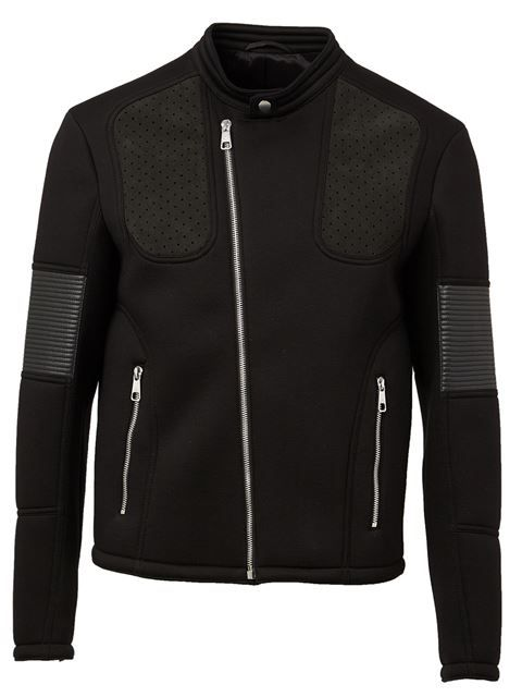 Shop Neil Barrett jersey biker jacket in L'Eclaireur from the world's best independent boutiques at farfetch.com. Shop 300 boutiques at one address.