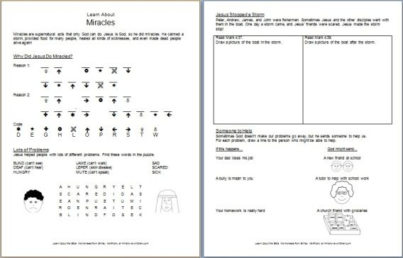 Pin On Sunday School Free bible worksheets for grade