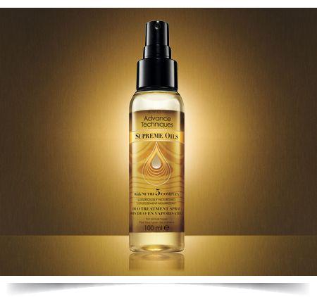 edc28e034 Advance Techniques Supreme Oils Duo Treatment Spray Corpo, Cabelo, Avon,  Materiais De Limpeza