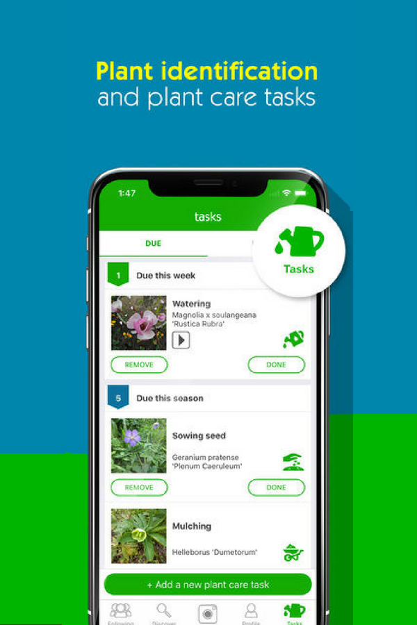 What a cool gardening app! With it you can identify plants
