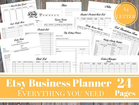Etsy Business Planner Bundle Etsy Shop Planner Creative Printable
