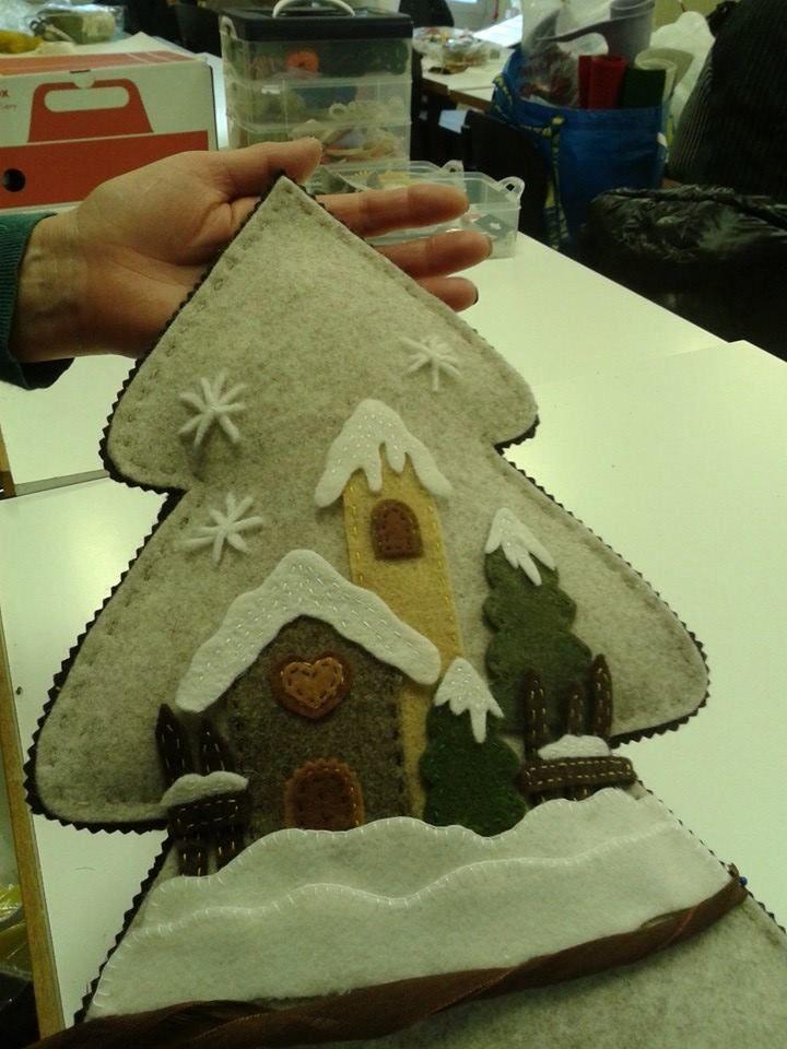 Decorazioni Natalizie In Feltro Pinterest.Pin By Barbara Hail On Projects To Try Alberi Di Natale Ornamento