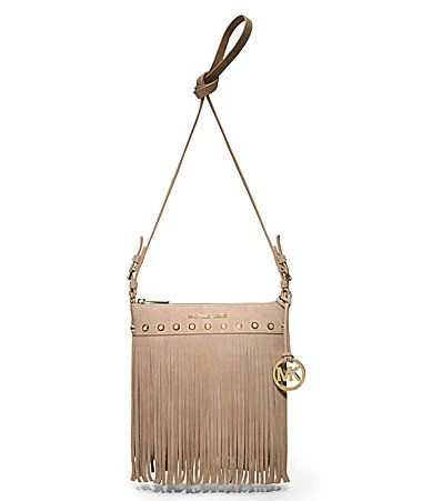 Outstanding Michael Michael Kors Billy Fringe Suede Small Messenger Bag Hairstyles For Women Draintrainus