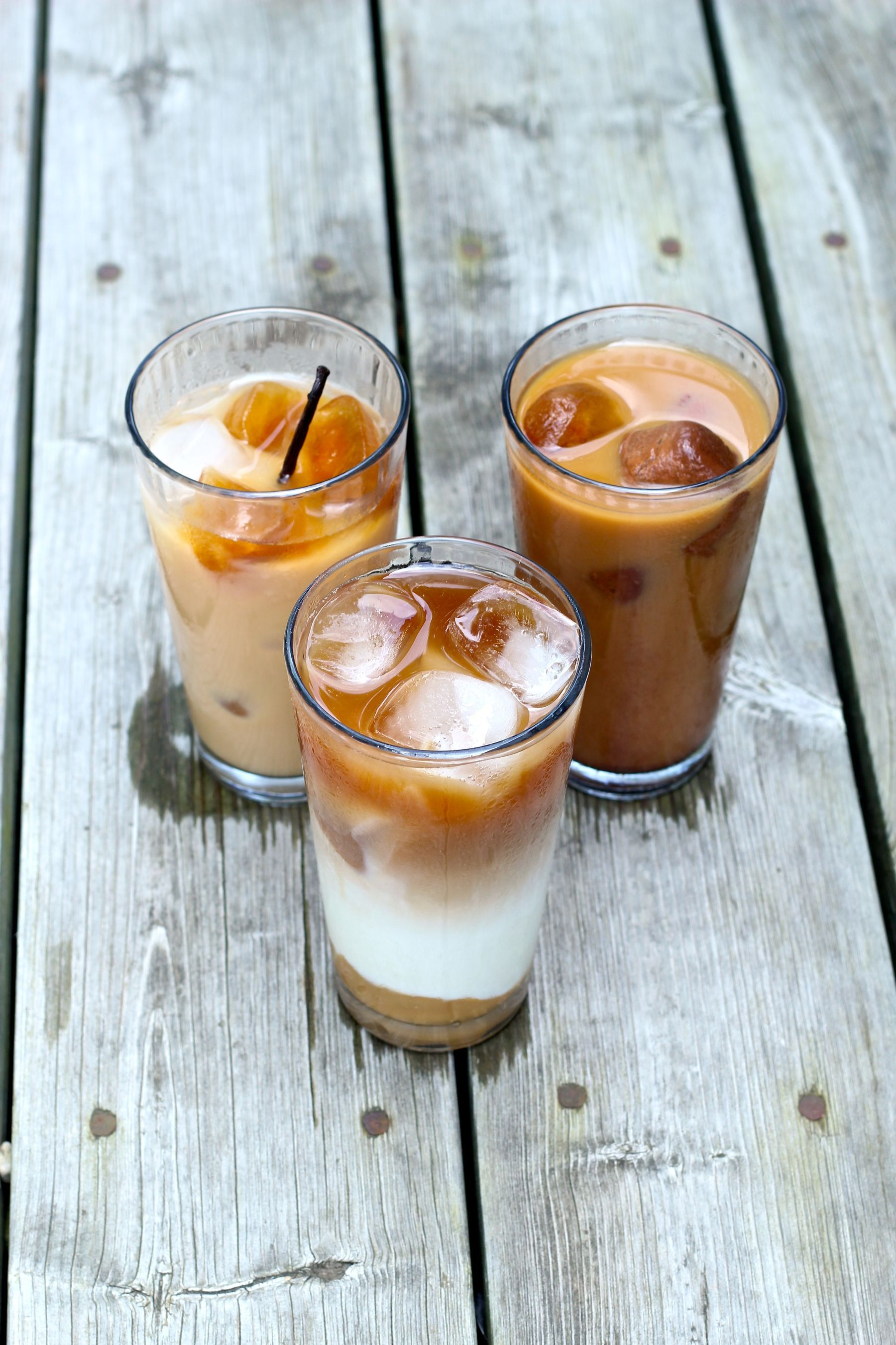 Iced coffee recipes caramel vanilla and mocha coffee