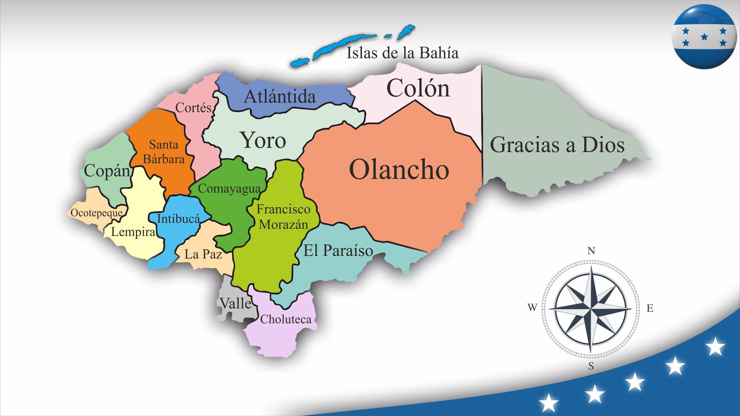 Resultado De Imagen Para Mapa De Honduras Republica De Honduras