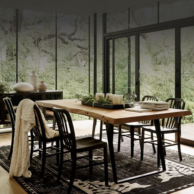 Gorgeous Dining Area With Natural Elements Neutral Colors Cozy
