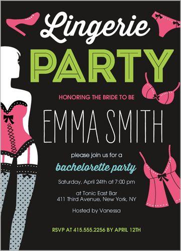 Naughty Nighty Bachelorette Party Invitation Bachelorette