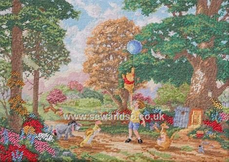 Buy Disney Pooh and Friends Cross Stitch Kit Online at www.sewandso.co.uk