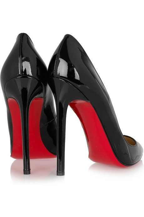 f2dc1055ce7f BlackPointed Toe Red Bottom High Heels