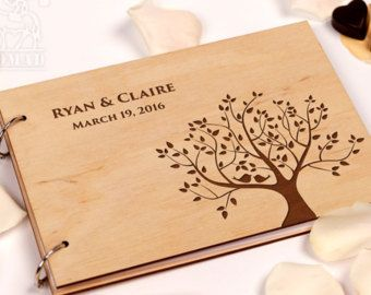 Build Memories Wedding Guest Book Custom Wood