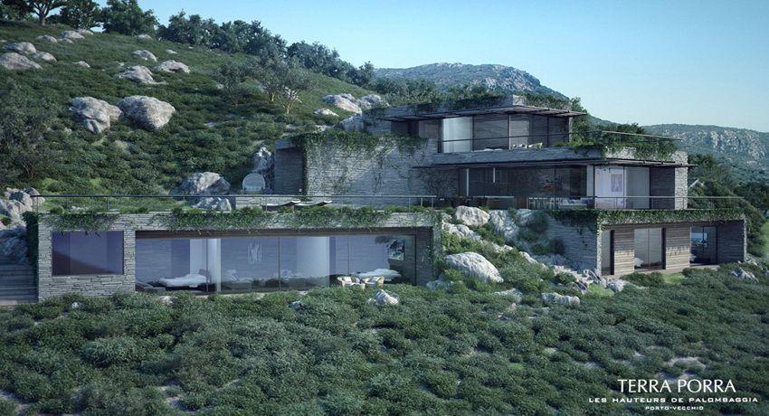 Corsican Mountain View Villas Visualized Mountain Architecture
