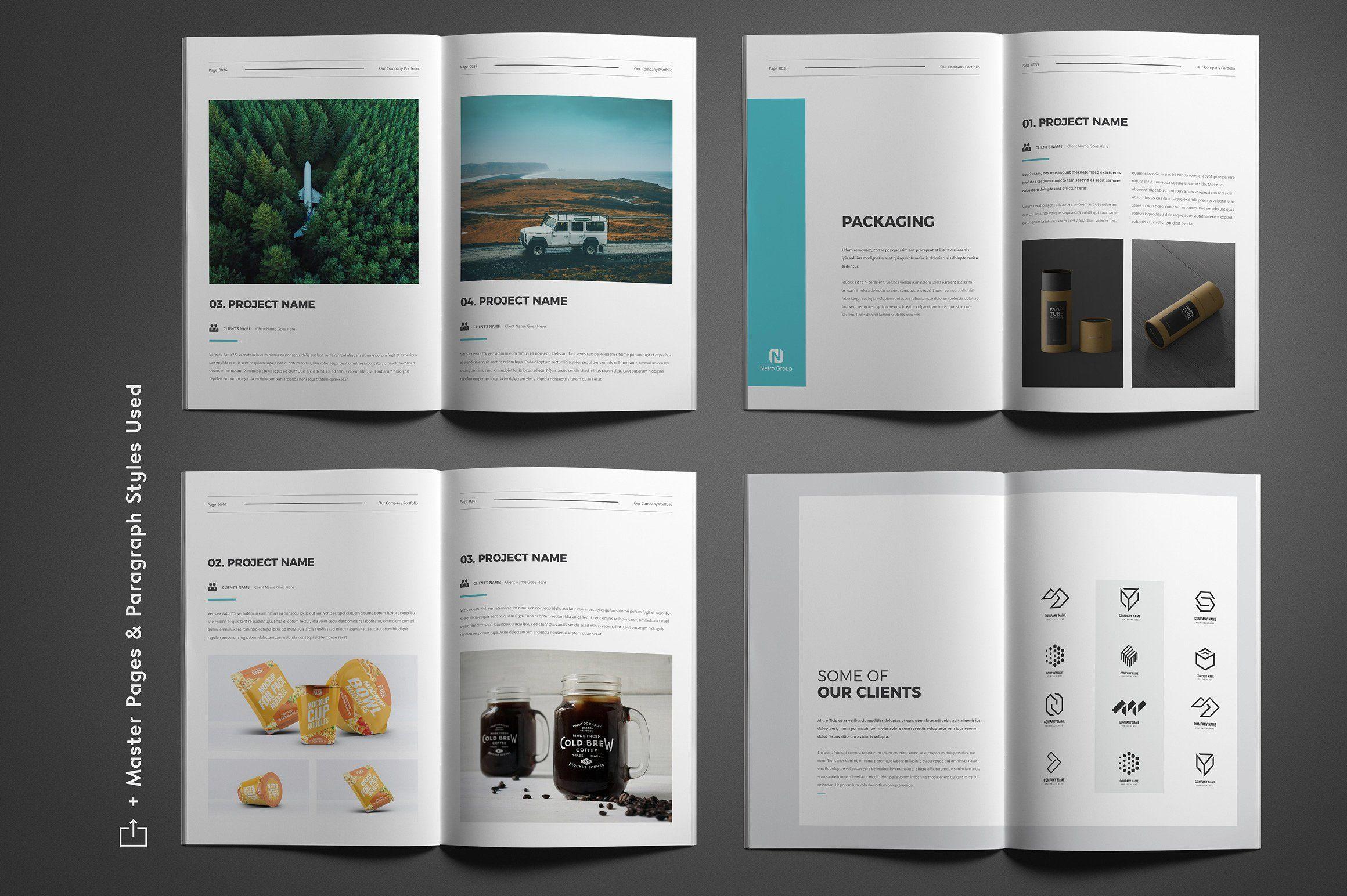Company Portfolio Company portfolio, Indesign templates