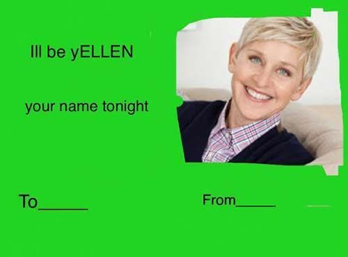 Schön Celebrity Tumblr Valentine Card Ellen 500×370 Pixels