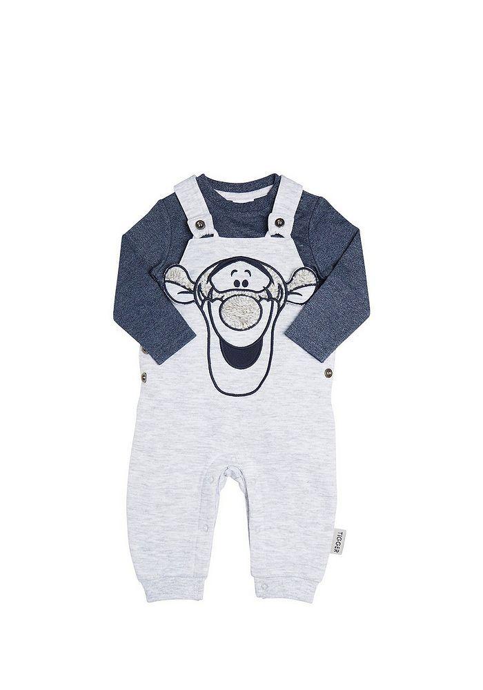 56a8147033a Tesco direct  Disney Tigger Jersey Dungarees and Bodysuit Set