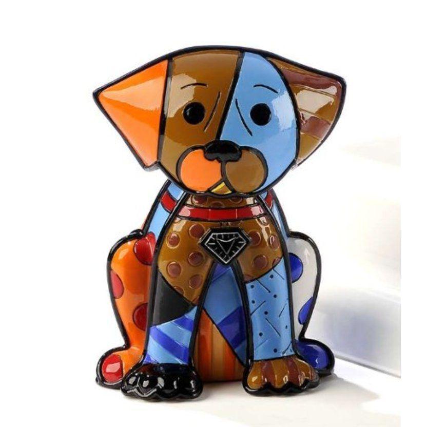 "/""ROYALTY/"" DOG ** NEW ** ROMERO BRITTO MINIATURE FIGURINE"