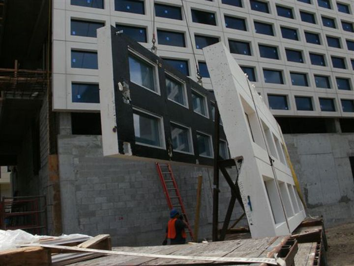 Precast Concrete Wall Systems With Pre-Installed Windows