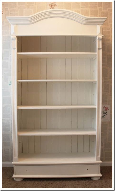 An Old Wooden Bookshelf Transformed With White Chalk PaintR Decorative Paint By Annie Sloan