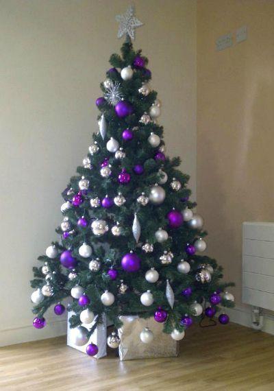 17 purple christmas trees decorating ideas christmas celebrations - Purple And Silver Christmas Tree Decorating Ideas