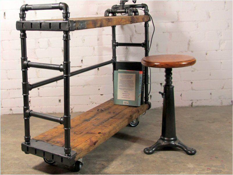 designer b cherregal industriedesign metallregal regal loft vintage rollregal industrial. Black Bedroom Furniture Sets. Home Design Ideas