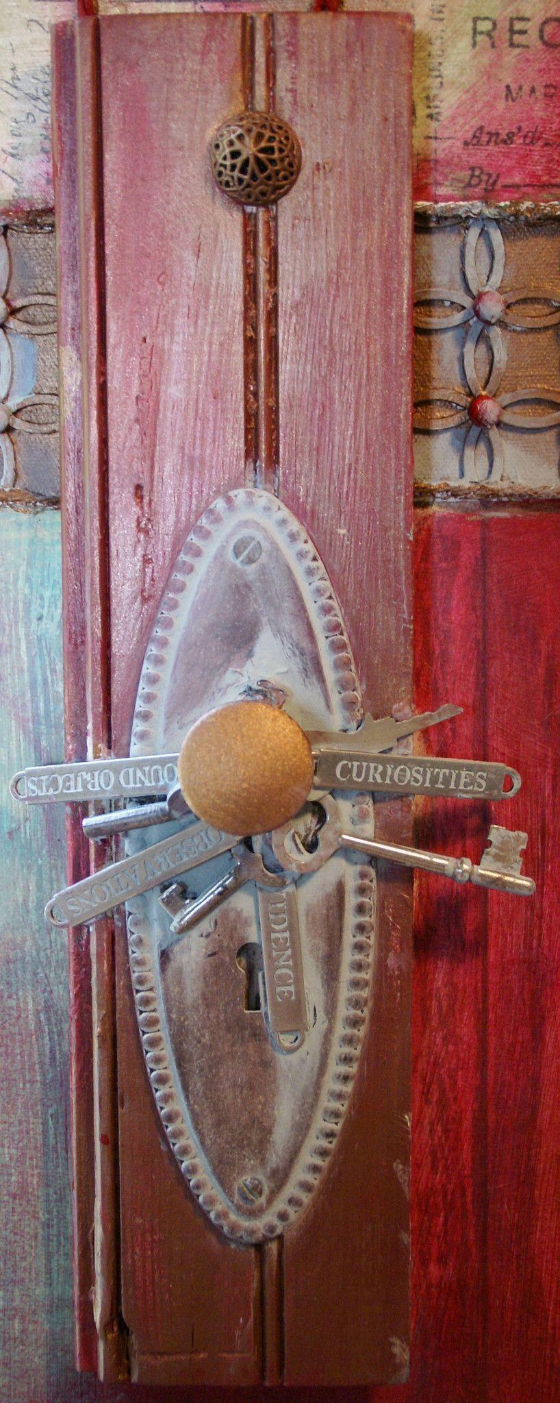 Cool Front Door Knobs door to the world - mixed media (sold) | artworks, mixed media