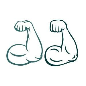 Muscle Arm Svg Cuttable Design Embroidery Lessons Design Svg