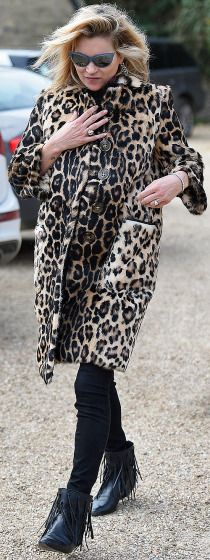 Kate Moss goes to lunch in London on Monday.