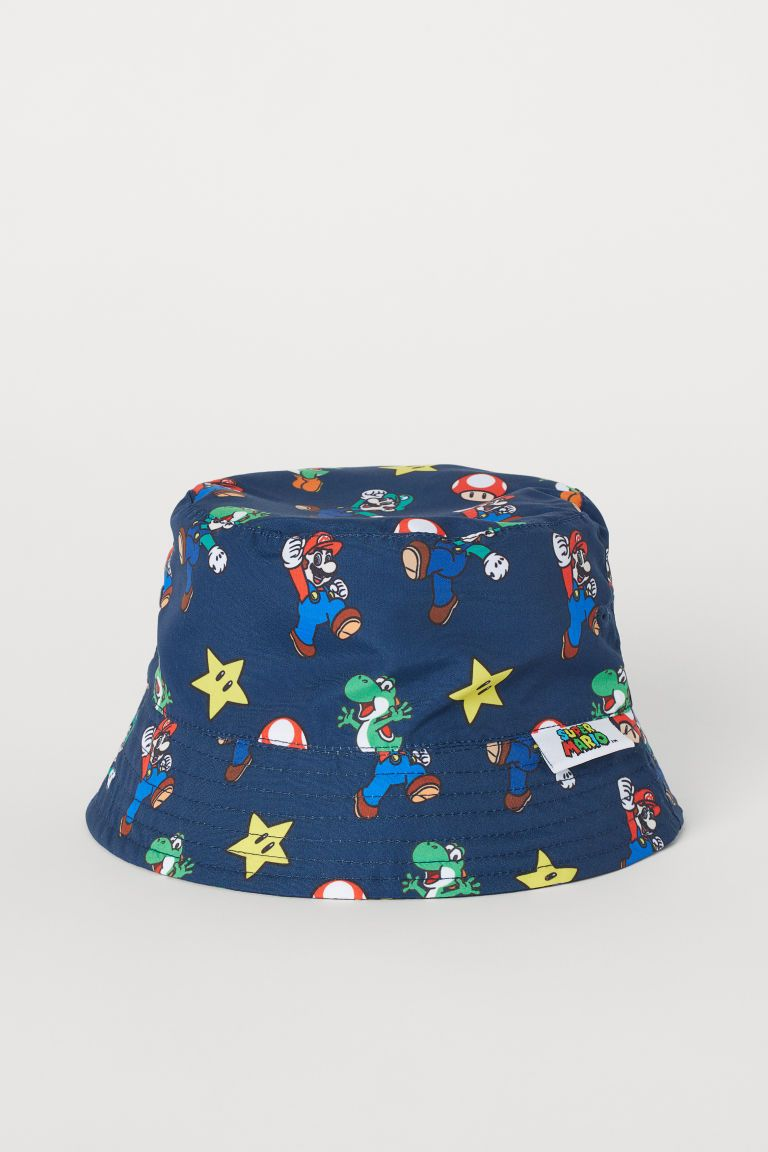 Kids OSFM New Girls Floral Print Cotton Canvas Bucket Hat