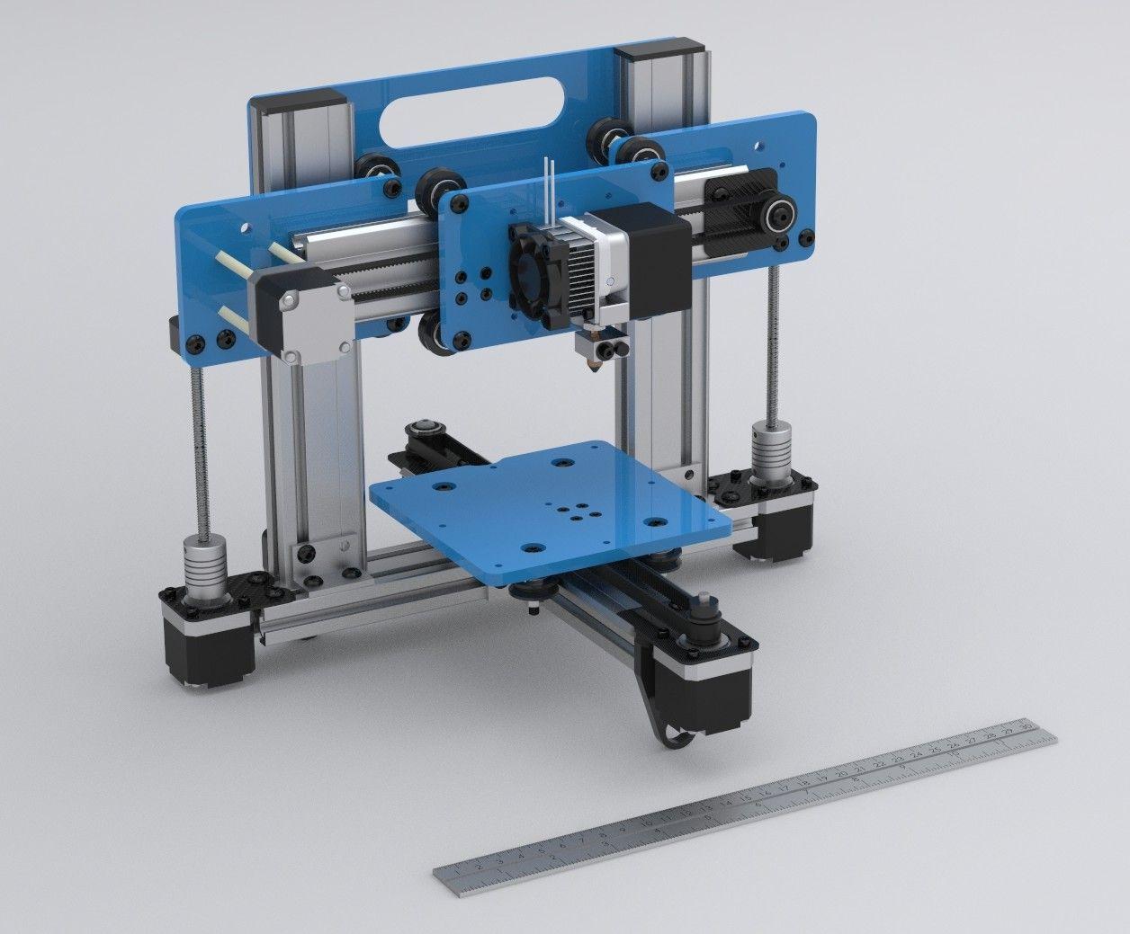 A 3d Printer Built With Makerslide Small 3d Printer 3d Printer 3d Printing