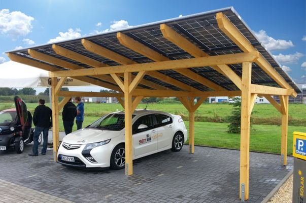 sol 50 solar carport a multi talent general energy. Black Bedroom Furniture Sets. Home Design Ideas