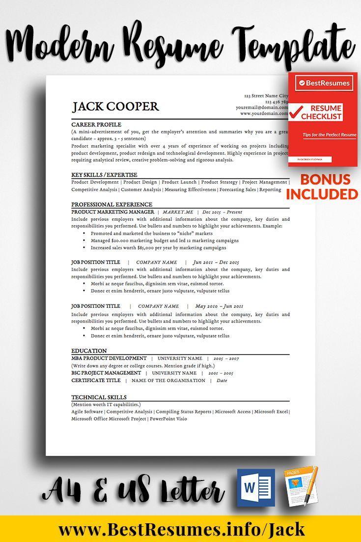 resume template jack cooper