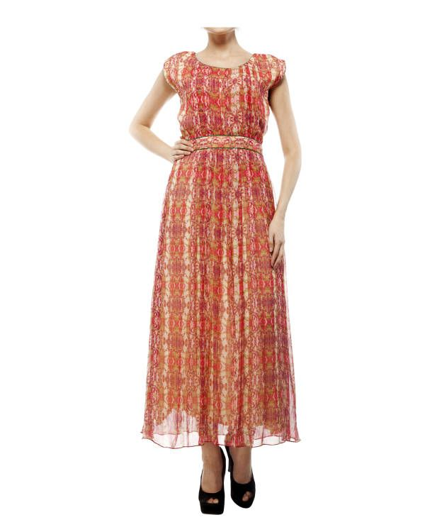 Digital print shantoon long dress |  Shop now: www.thesecretlabel.com