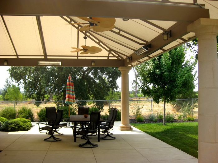 Patio Awnings With Built In Fans Heaters And Air Vents Creative