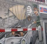 Escape At Checkpoint Charlie Depicted At East Side Gallery East Side Gallery Checkpoint Charlie Great Places
